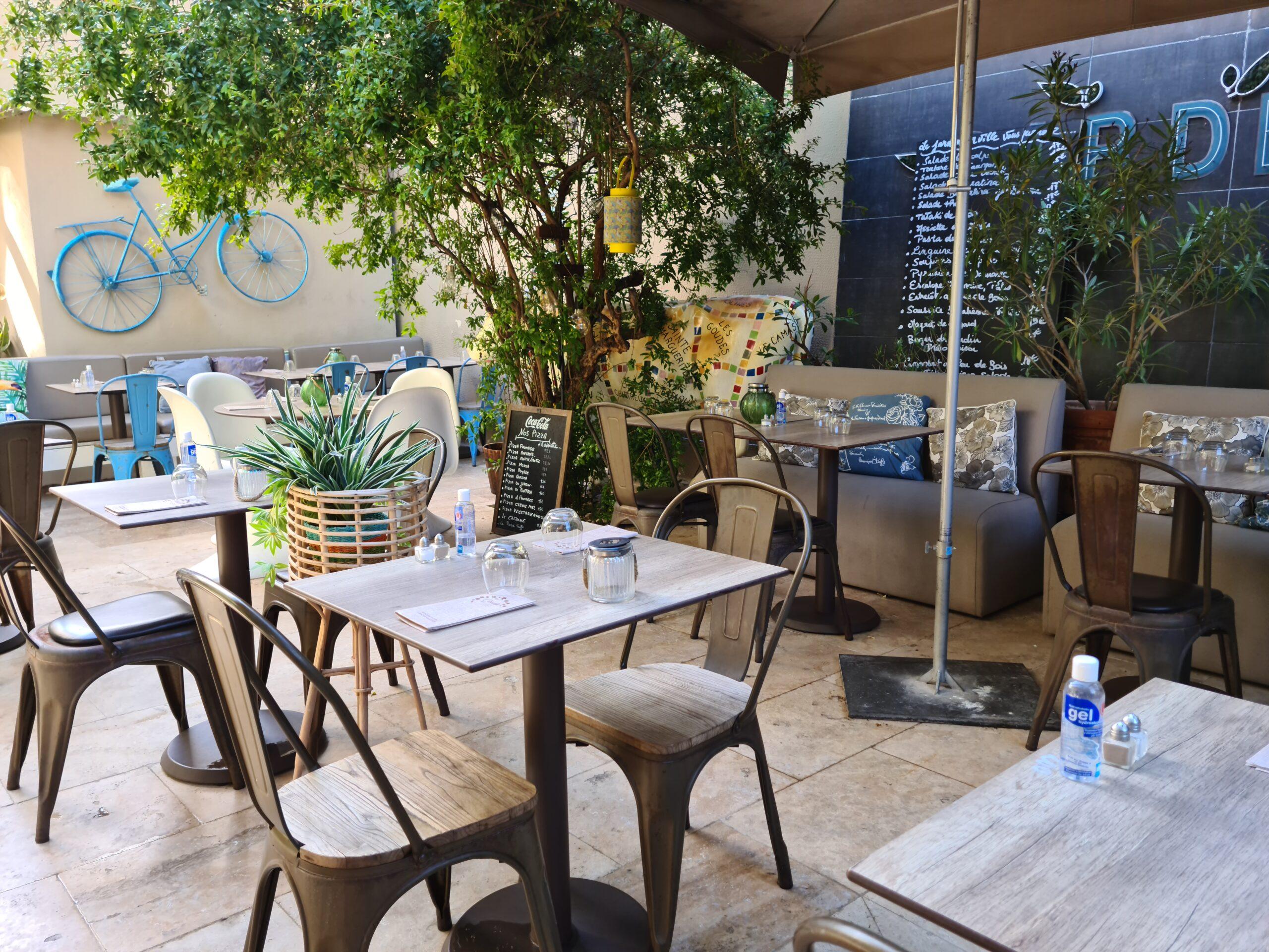 vue de la terrasse du restaurant marseillais Un jardin en ville
